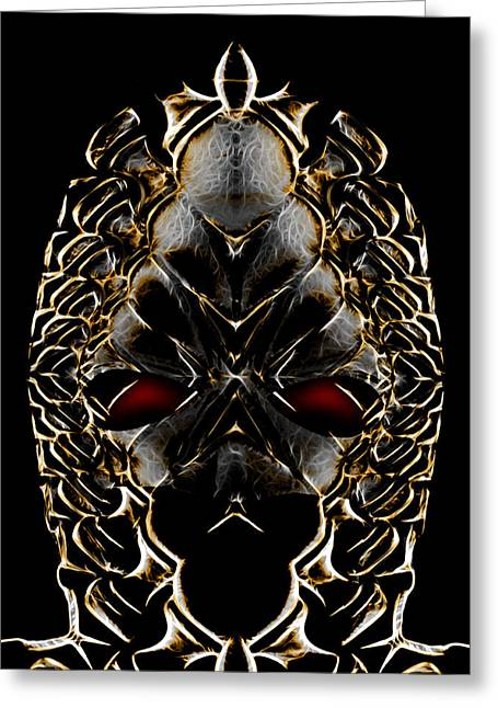Guise Greeting Cards - Alien Mask Greeting Card by Carlos Vieira