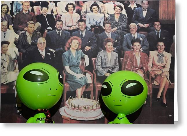 Movie Legend Greeting Cards - Alien Nostalgia Greeting Card by Richard Henne