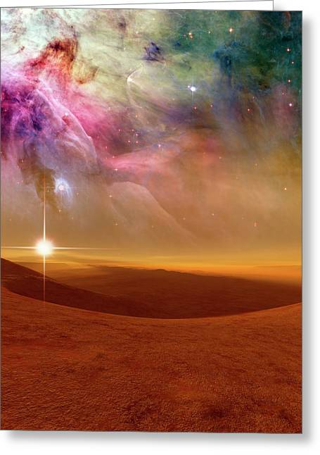 Alien Planet Forming In Orion Greeting Card by Nasa, Esa, M. Robberto (space Telescope Science Institute/esa), And The Hubble Space Telescope Orion Treasury Project Team/detlev Van Ravenswaay