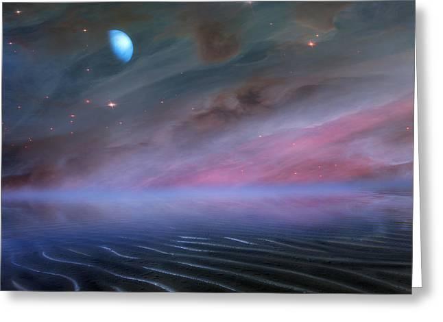 Alien Greeting Cards - Alien Skies Greeting Card by Bill  Wakeley