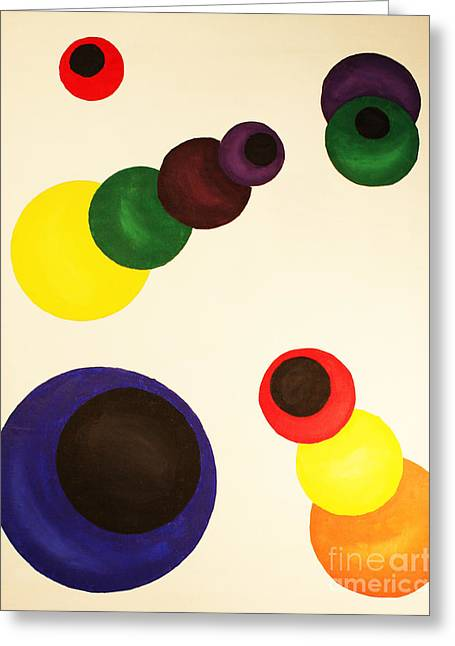 Strategy Paintings Greeting Cards - Aligning Strategy Greeting Card by Christine  Dekkers