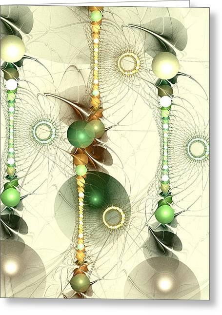 Toys Mixed Media Greeting Cards - Alignment Greeting Card by Anastasiya Malakhova