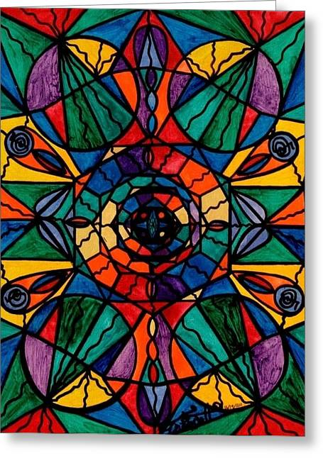 Mandala Greeting Cards - Alignment Greeting Card by Teal Eye  Print Store
