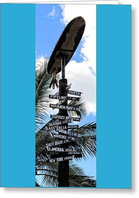 Surfin Greeting Cards - ALII Beach Strait Ahead Greeting Card by DJ Florek