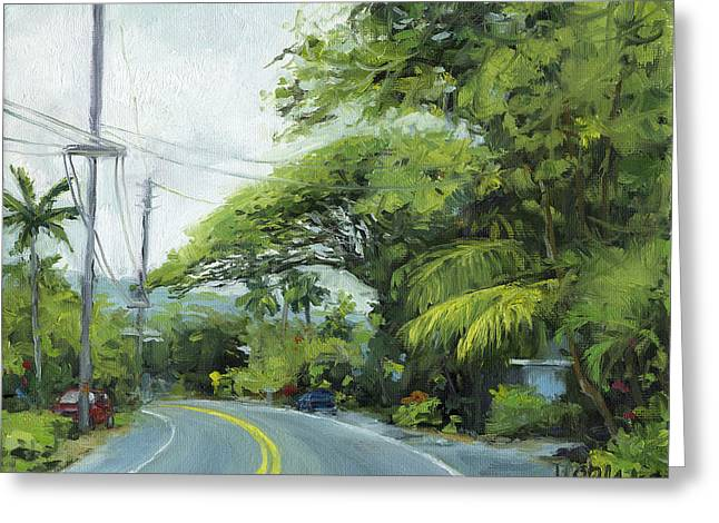 Stacy Vosberg Greeting Cards - Alii Drive Greeting Card by Stacy Vosberg