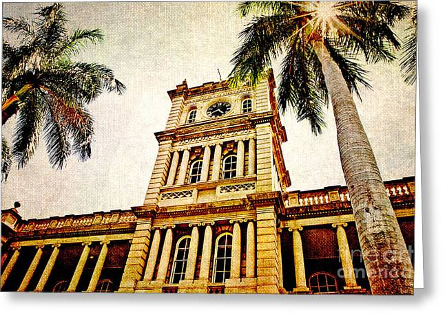 Kamehameha Greeting Cards - Aliiolani Hale Greeting Card by Scott Pellegrin