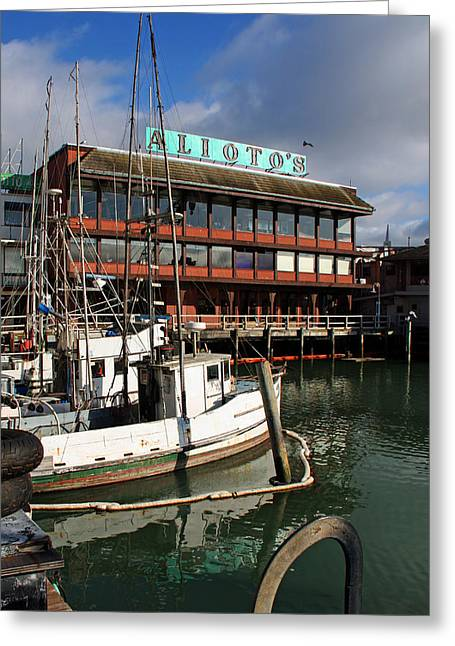 S. California Greeting Cards - Aliotos Fishermans Wharf Greeting Card by Kathy Yates