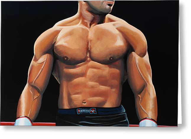 Alistair Overeem Greeting Card by Paul  Meijering