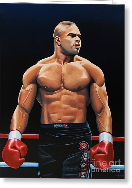 Sport Artist Greeting Cards - Alistair Overeem Greeting Card by Paul Meijering