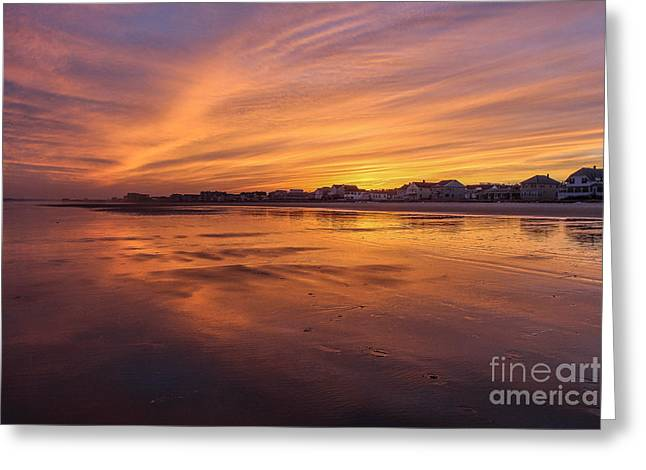 Old Maine Houses Greeting Cards - Alive with Color Greeting Card by Joe Far Photos