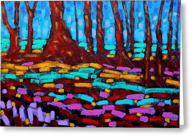 Layer Greeting Cards - Alizarin Woods Greeting Card by John  Nolan