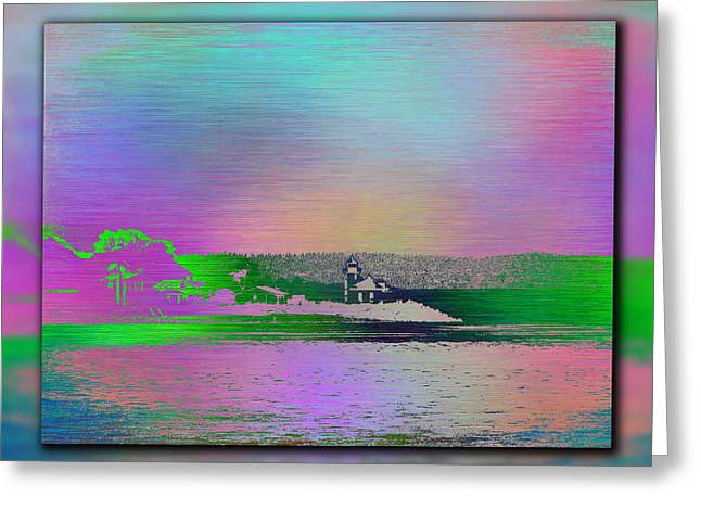 Alki Beach Greeting Cards - Alki Point Lighthouse 1 Greeting Card by Tim Allen