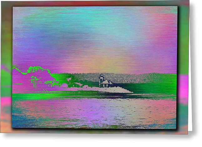 Alki Beach Greeting Cards - Alki Point Lighthouse 2 Greeting Card by Tim Allen