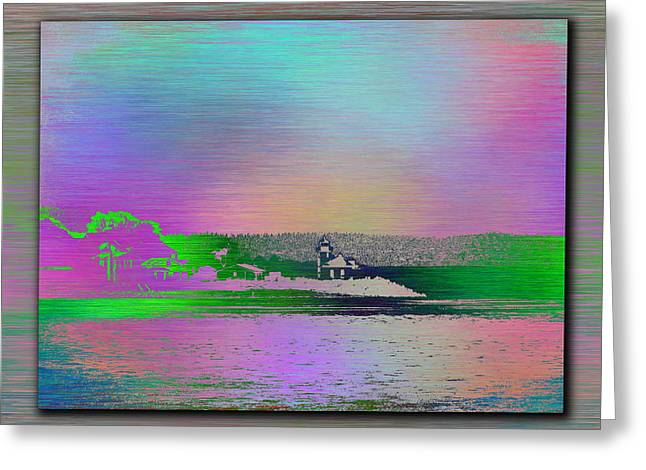 Alki Beach Greeting Cards - Alki Point Lighthouse 3 Greeting Card by Tim Allen