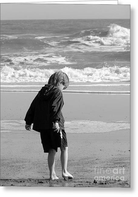 Precious Moment Greeting Cards - All 2 Self BW Greeting Card by Amy Pena