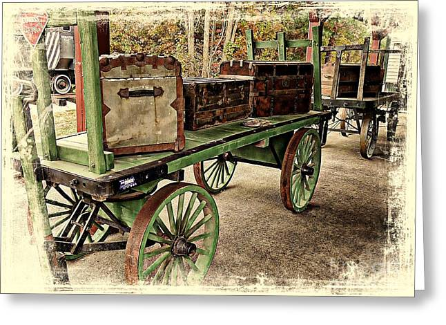 Straps Greeting Cards - All Aboard Greeting Card by Marcia Lee Jones