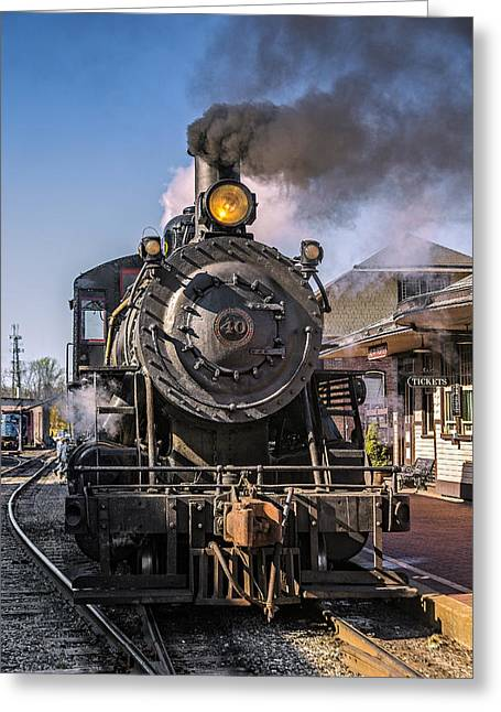 2-8-0 Greeting Cards - All Aboard  Greeting Card by Susan Candelario