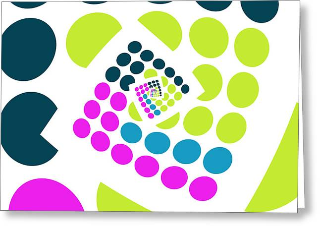 Twirl Greeting Cards - All About Dots - 057 Greeting Card by Variance Collections