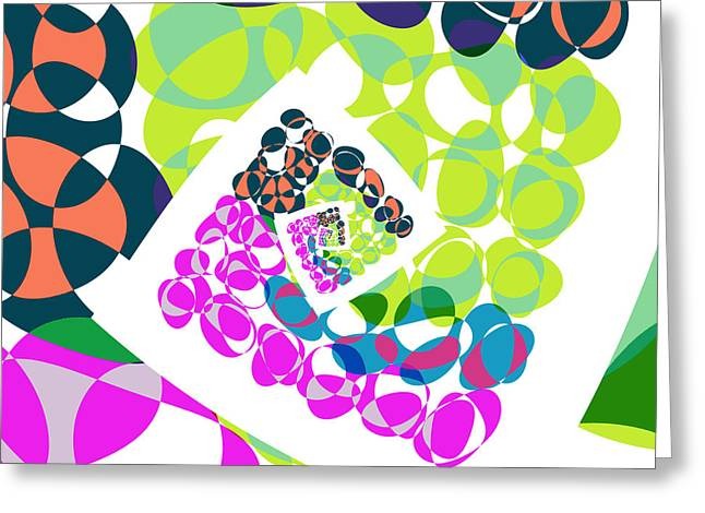 Twirl Greeting Cards - All About Dots - 061 Greeting Card by Variance Collections