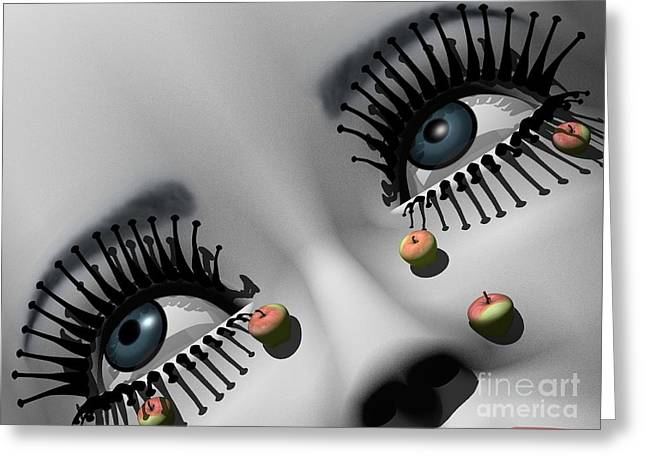 Eyelash Greeting Cards - All about Eve - after Man Ray Greeting Card by Joseph Fraizer