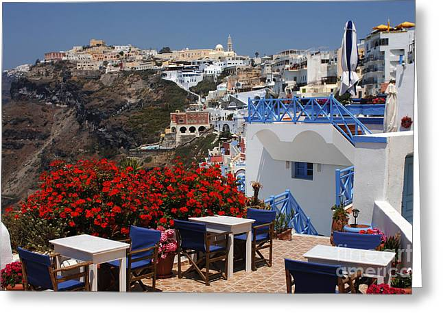 International Travel Greeting Cards - All About The Greek Lifestyle Greeting Card by Bob Christopher