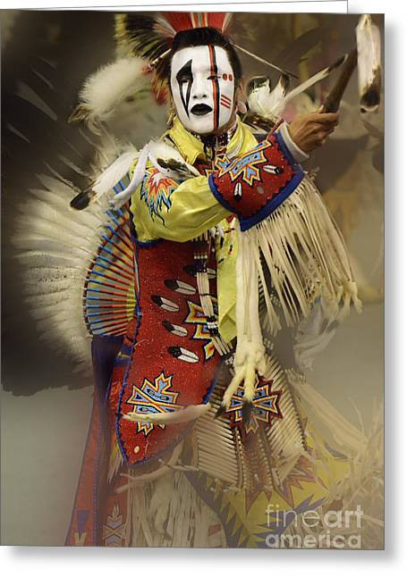First Tribes Greeting Cards - Pow Wow All About Time Greeting Card by Bob Christopher