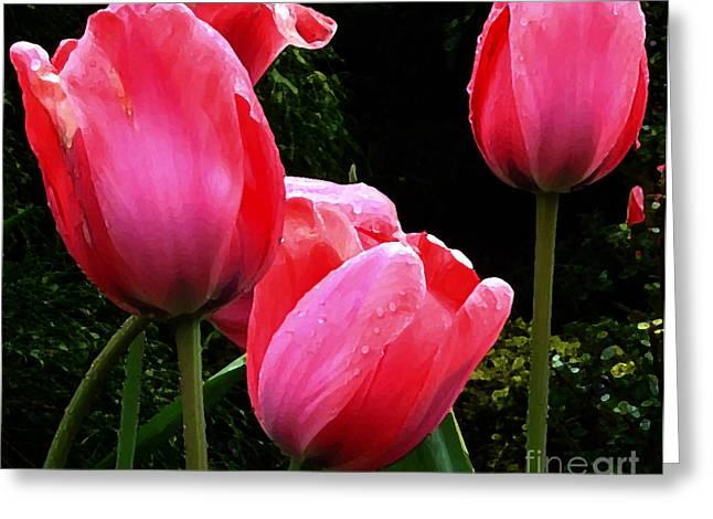 Greeting Cards - All About Tulips Victoria Greeting Card by Glenna McRae