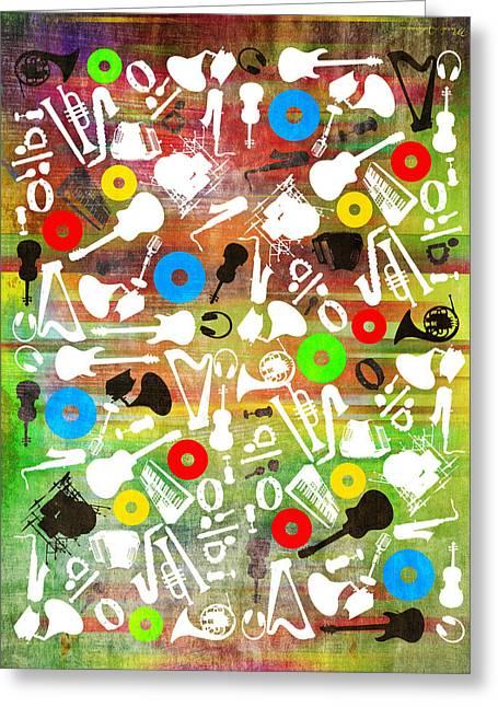 All Abut Music 2 Greeting Card by Mark Ashkenazi