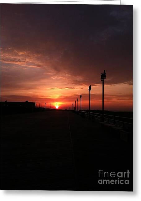 All Along The Boardwalk Greeting Card by John Telfer