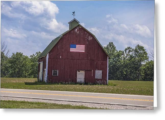 Classic Barn Greeting Cards - All American Barn Greeting Card by John McGraw