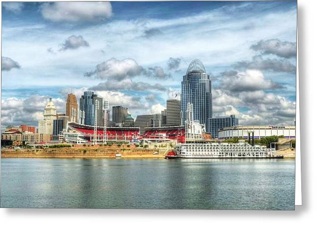 Greater Cincinnati Greeting Cards - All American City 2 Greeting Card by Mel Steinhauer