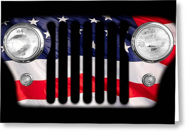 Jeeps Greeting Cards - All-American Greeting Card by Luke Moore