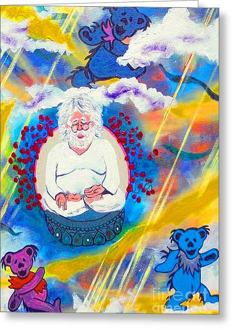 Rock And Roll Heaven Greeting Cards - All Bears Go to Heaven pt1 Greeting Card by Kevin J Cooper Artwork