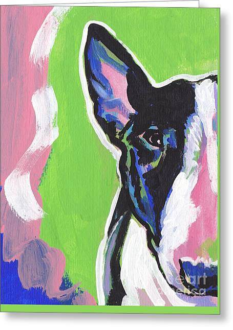 Bull Terrier Greeting Cards - All Bull Greeting Card by Lea
