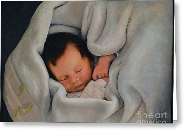 Faa Featured Paintings Greeting Cards - All bundled up with sweet dreams Greeting Card by Ralph Taeger