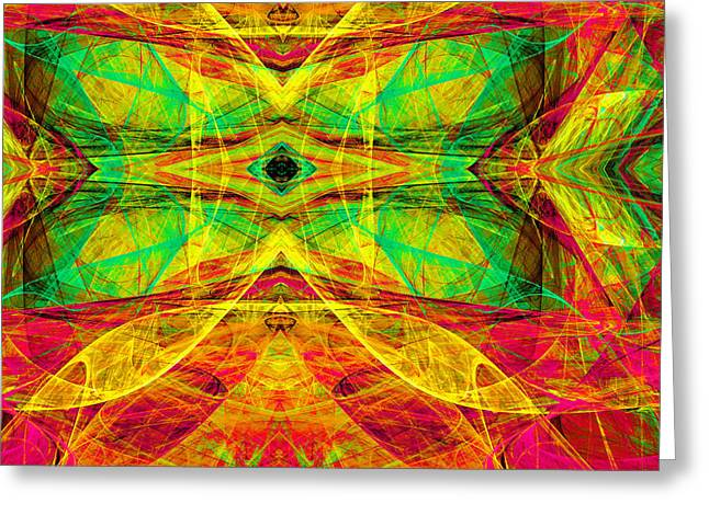 Algorithmic Abstract Greeting Cards - All Butterflies Live In Heaven 20140828 Square 2 Greeting Card by Wingsdomain Art and Photography