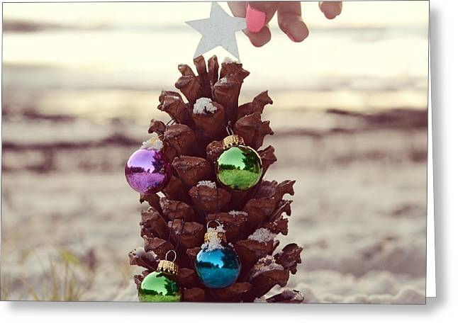 Pine Cones Greeting Cards - All Creatures Great And Small Greeting Card by Laura  Fasulo