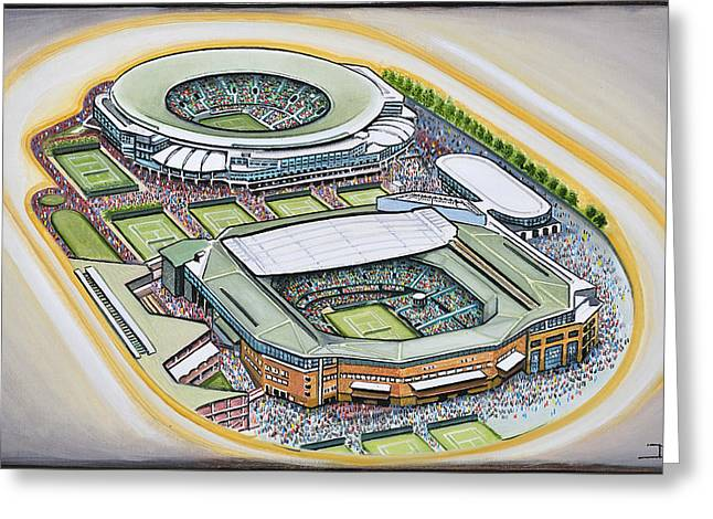All England Lawn Tennis Club Greeting Card by D J Rogers