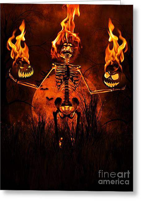 Psp Greeting Cards - All Hallows Eve Greeting Card by Putterhug  Studio