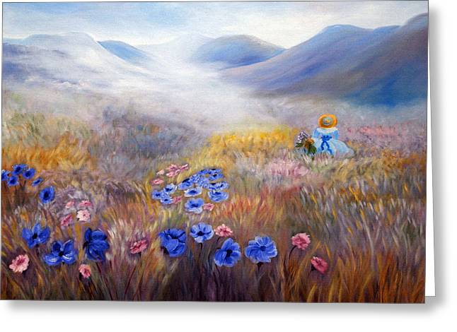 Print On Canvas Greeting Cards - All In A Dream - Impressionism Greeting Card by Georgiana Romanovna