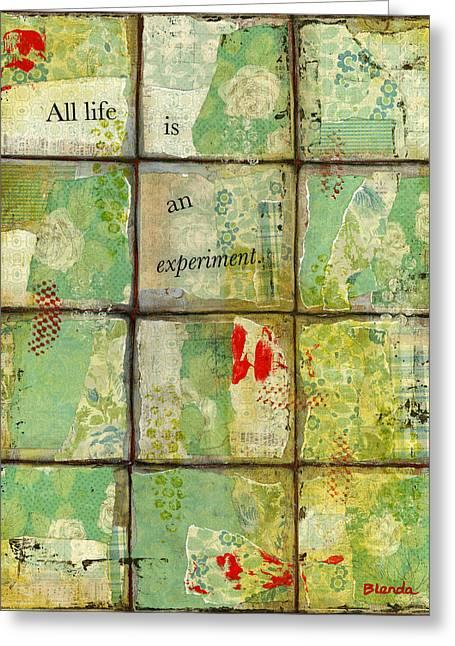 Blenda Tyvoll Greeting Cards - All Life...Abstract Art Greeting Card by Blenda Studio