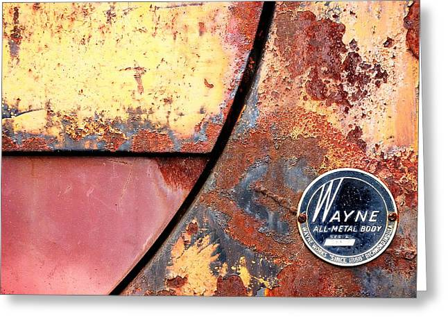 Rusted Cars Greeting Cards - All-Metal Body Greeting Card by Jim Hughes
