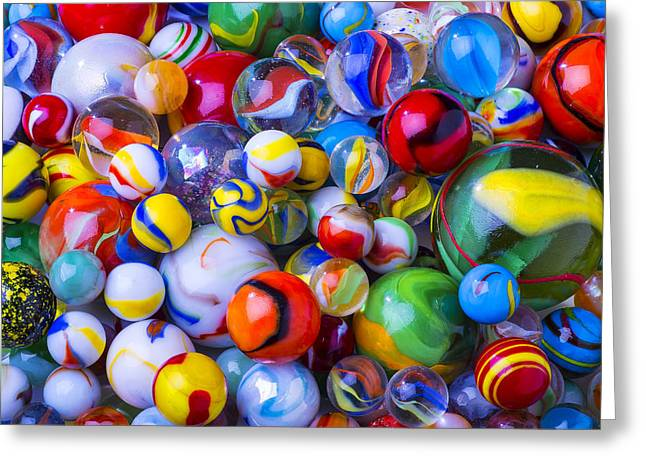 Spheres Greeting Cards - All my marbles Greeting Card by Garry Gay