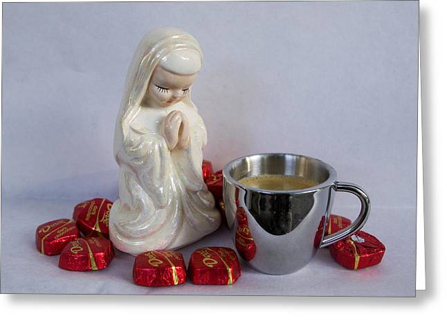 Christ Child Greeting Cards - All My Prayers Answered Greeting Card by William Patrick