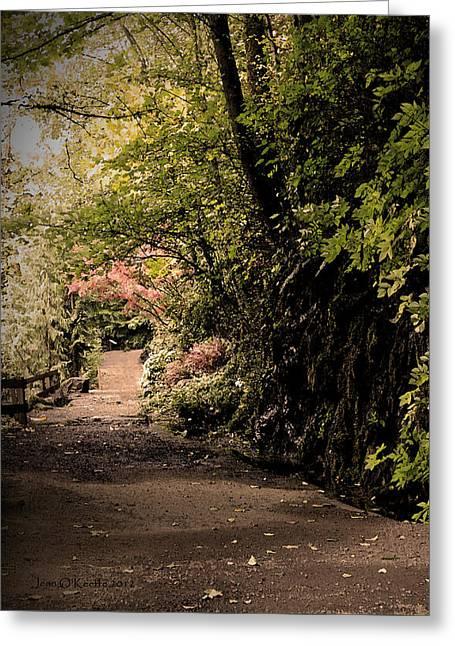 All Paths Lead To Emmaus Greeting Card by Jean OKeeffe Macro Abundance Art