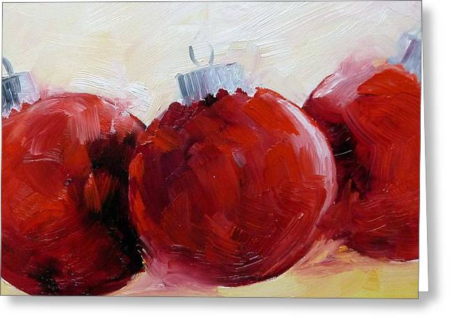 Christmas Art Greeting Cards - All Red Greeting Card by Suzy Pal Powell