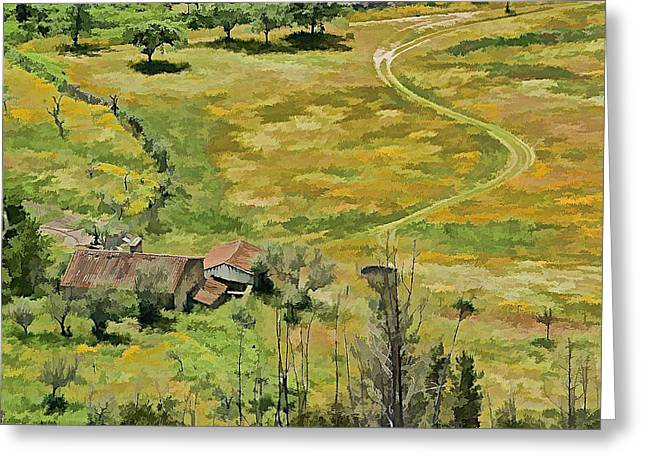Old Country Roads Greeting Cards - All Roads Lead Home Greeting Card by David Letts