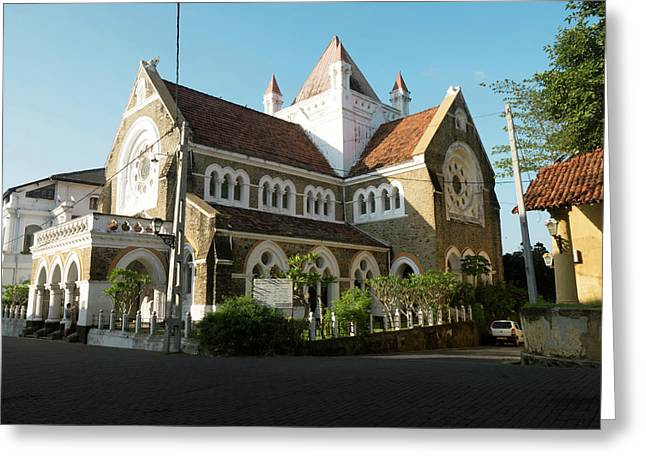 All Saints Church, Church Street, Galle Greeting Card by Panoramic Images
