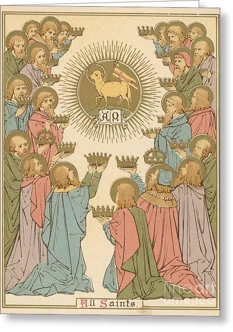 All Saints Greeting Card by English School