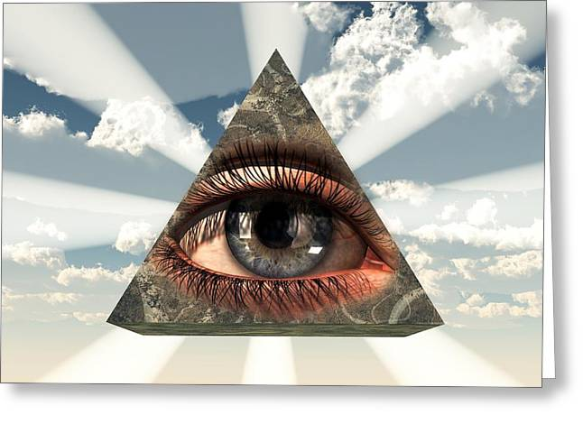 Christian Art Greeting Cards - All Seeing Eye Greeting Card by Christian Art